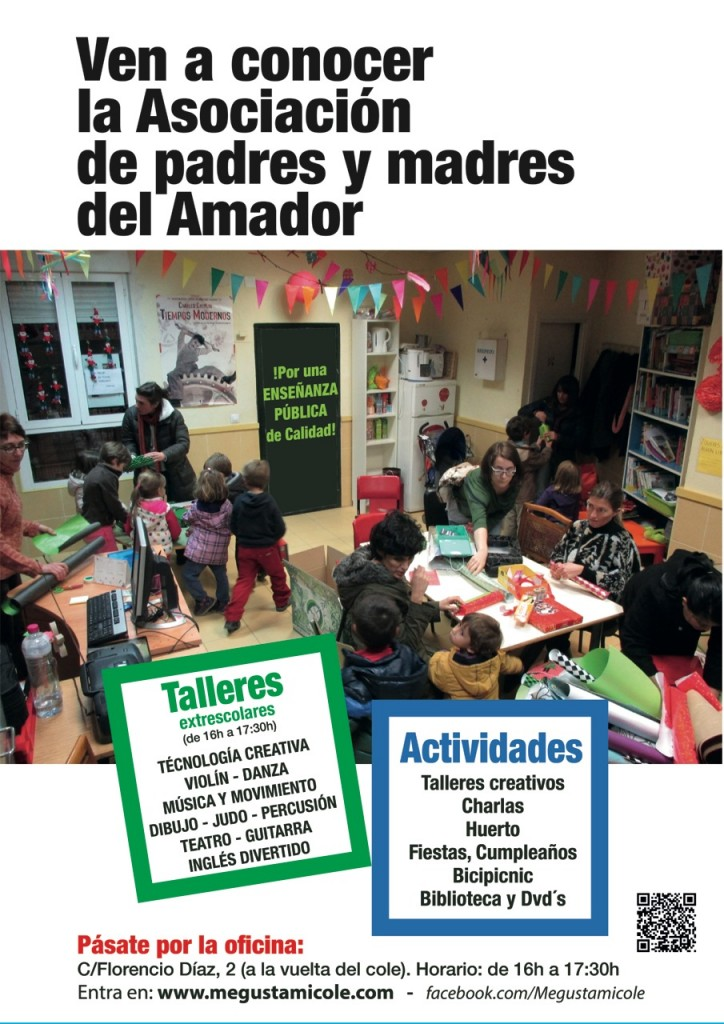 Cartel AMPA Amador Ríos
