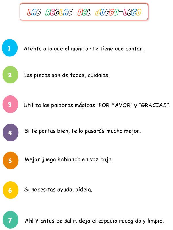 reglas legoteca Amador Ríos Colegio